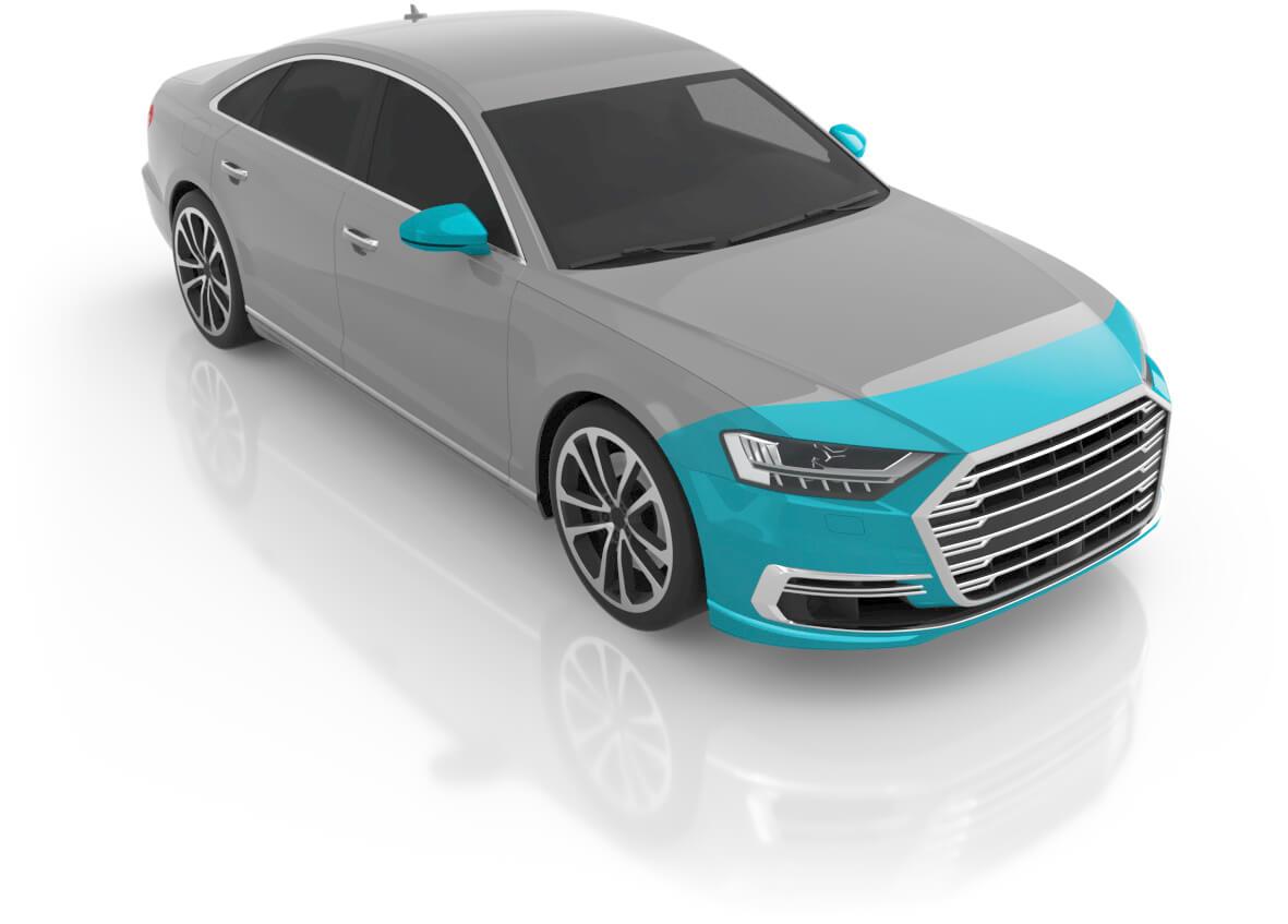 Large Sedan - Premium Front
