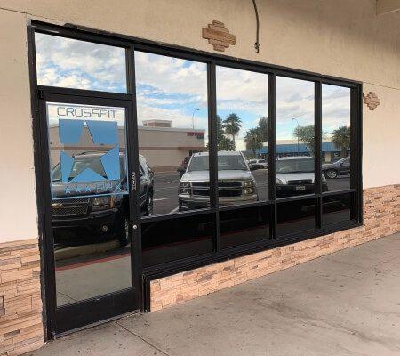 Business Reflective Window Film Installed