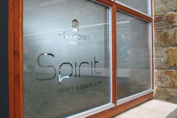 Decorative Window Film with company logo