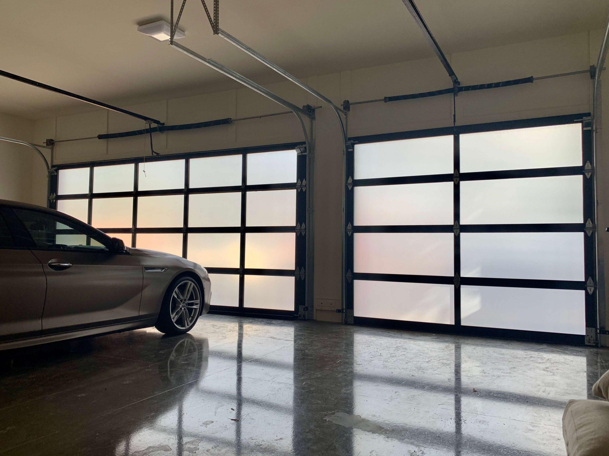 Frosted Garage Door Window Film