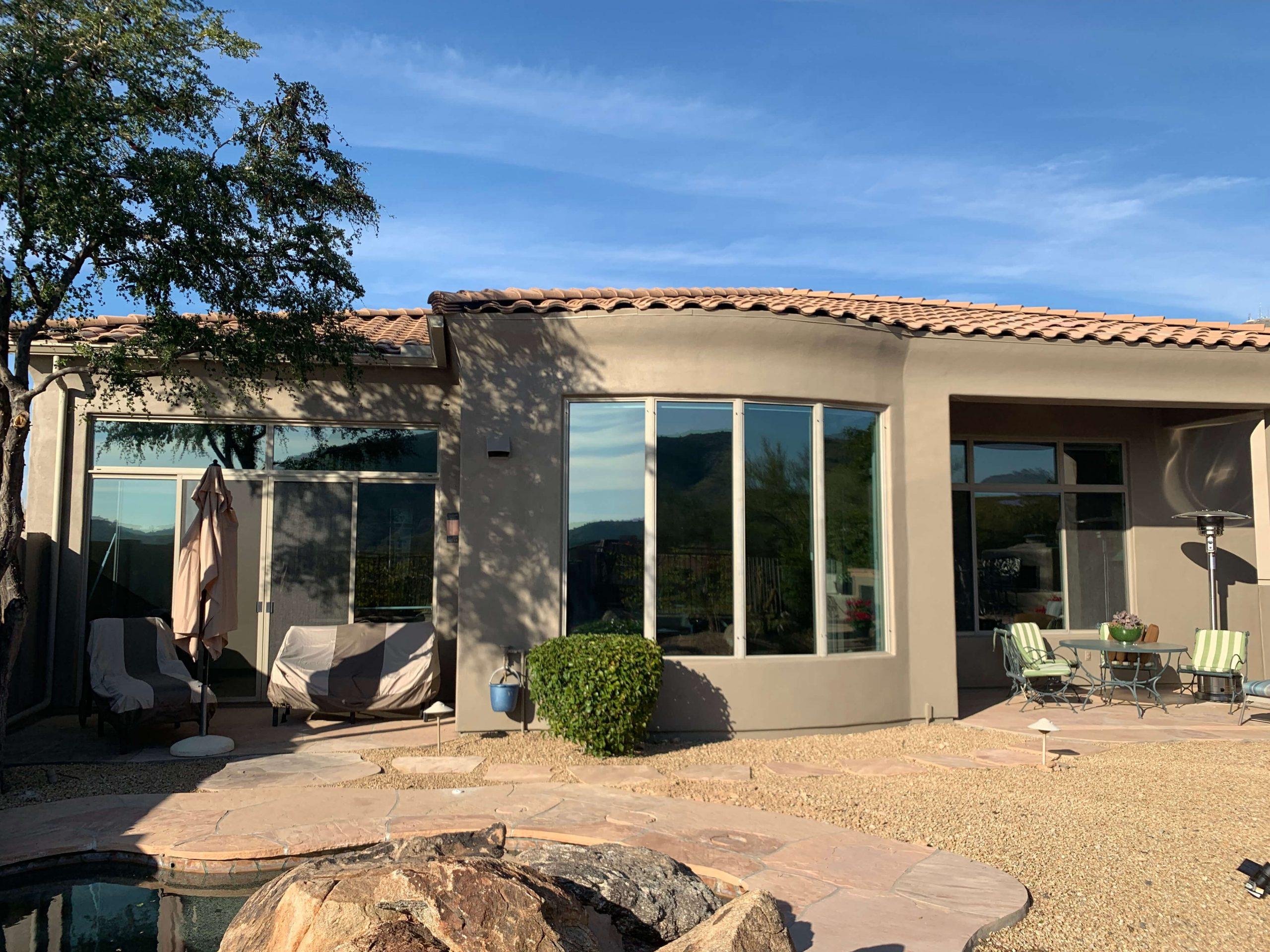 Chandler AZ Home with Reflective Window Tint