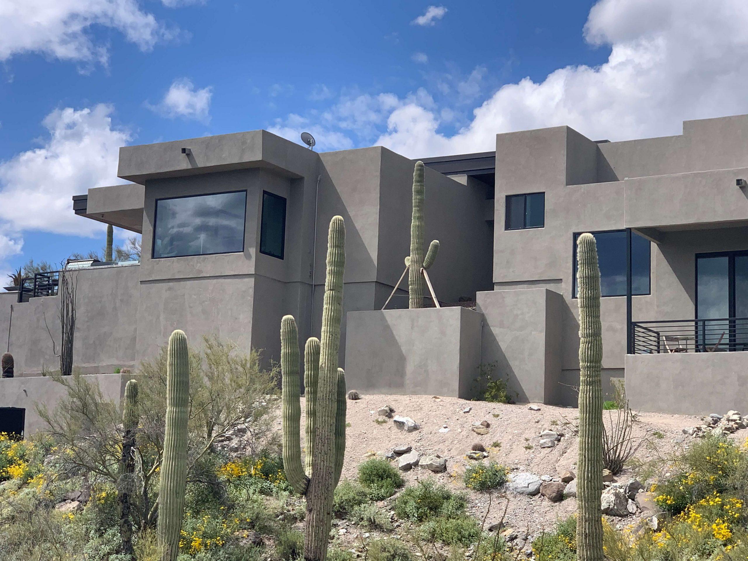 Modern Home with Semi Reflective Solar Window Film